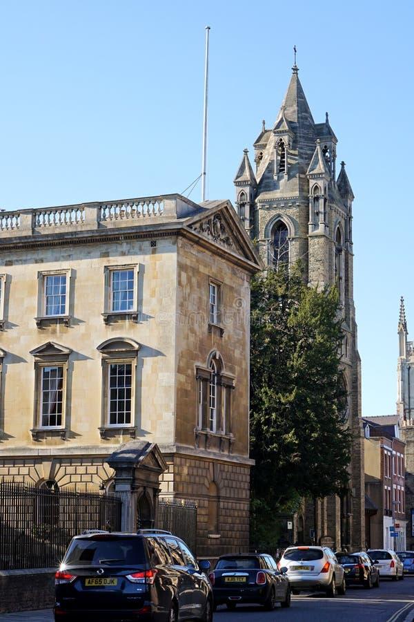 Calle de Trumpington, Cambridge, Inglaterra imagen de archivo libre de regalías