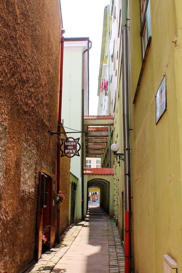 Calle de Trutnov en la República Checa foto de archivo libre de regalías