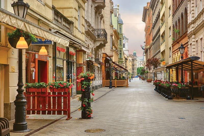 Calle de Vaci en Budapest foto de archivo libre de regalías