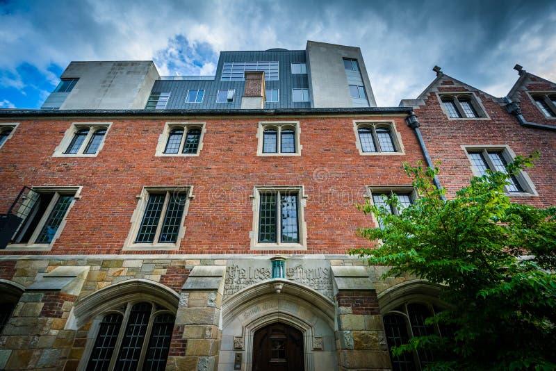 Calle de 202 York, en el campus de Yale University, en New Haven, fotografía de archivo