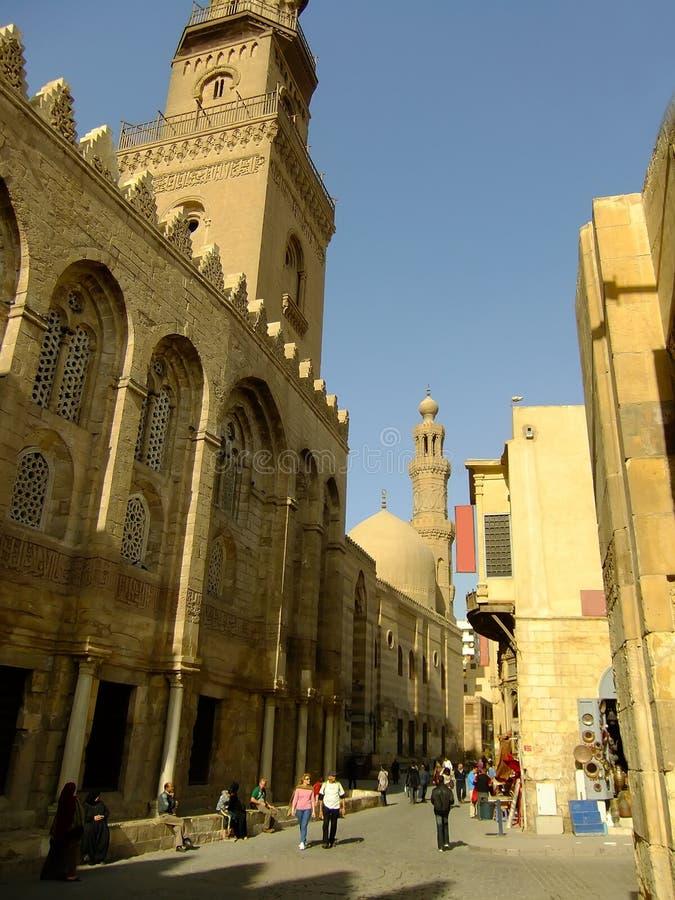 Calle del al-Muizz, distric islámico, El Cairo imagen de archivo