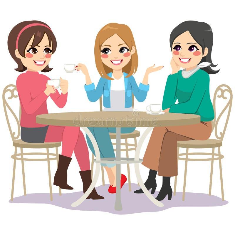 Calle del café de los amigos libre illustration