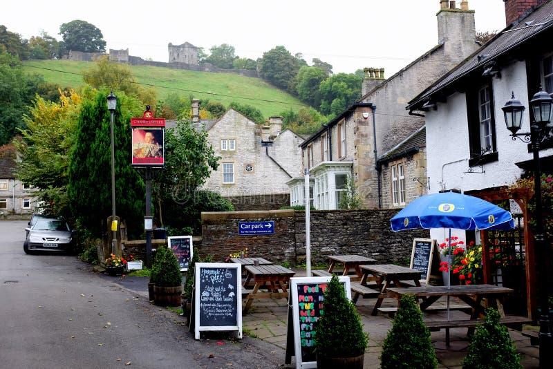 Calle del castillo, Castleton fotografía de archivo