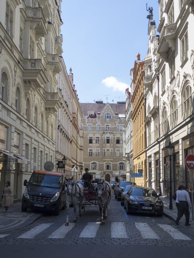 Calle del chymova del ¡de JÃ, Praga fotografía de archivo