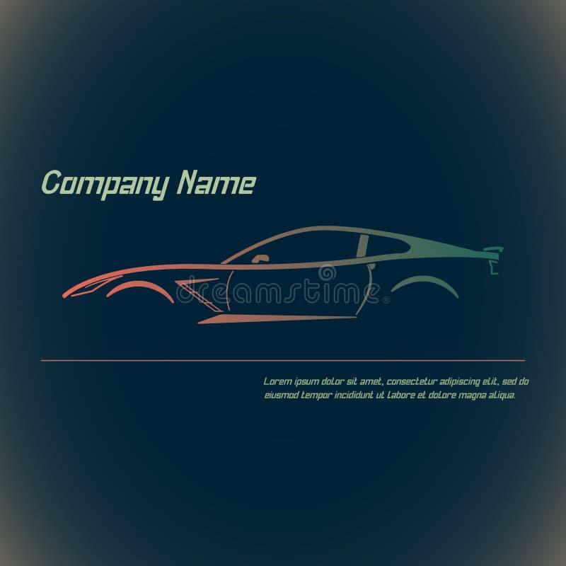 Calle del concepto sportscar stock de ilustración