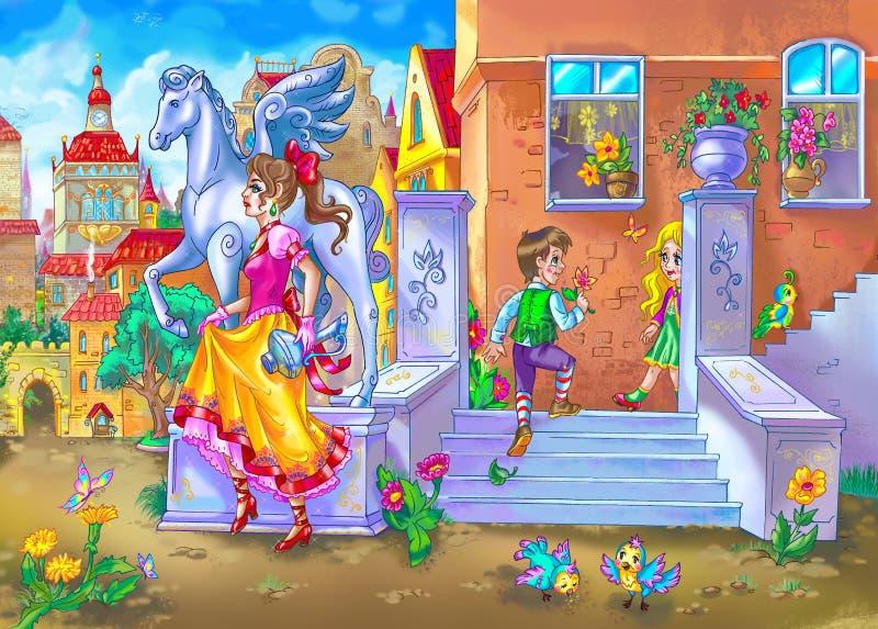 Calle del cuento de hadas libre illustration