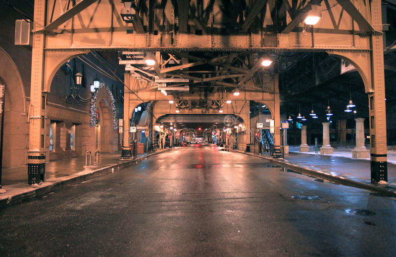 Calle del distrito financiero de Chicago imagen de archivo