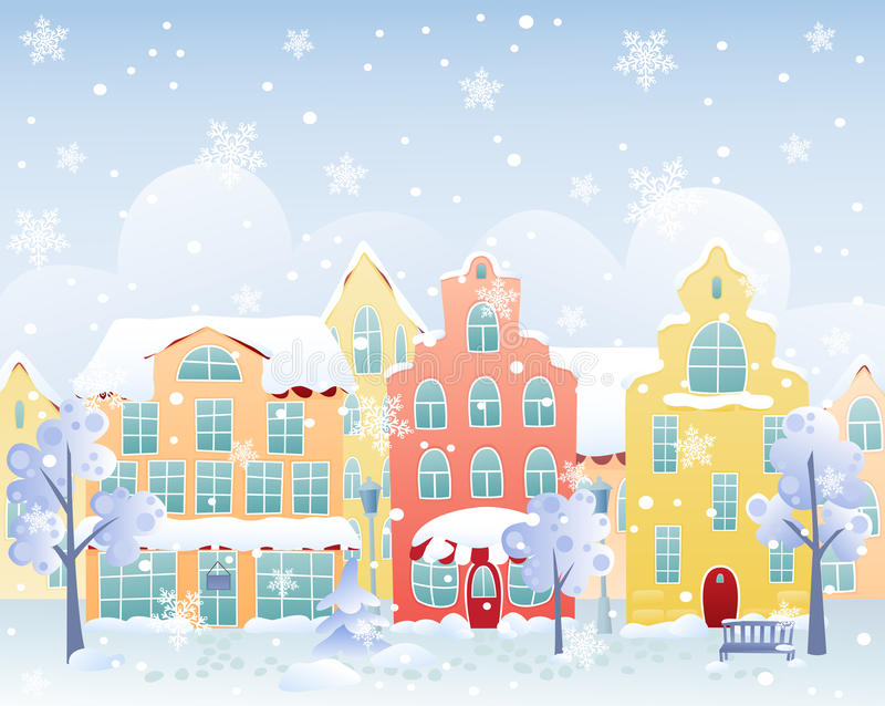 Calle del invierno libre illustration