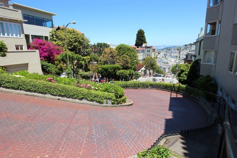 Calle del lombardo en San Francisco fotos de archivo libres de regalías