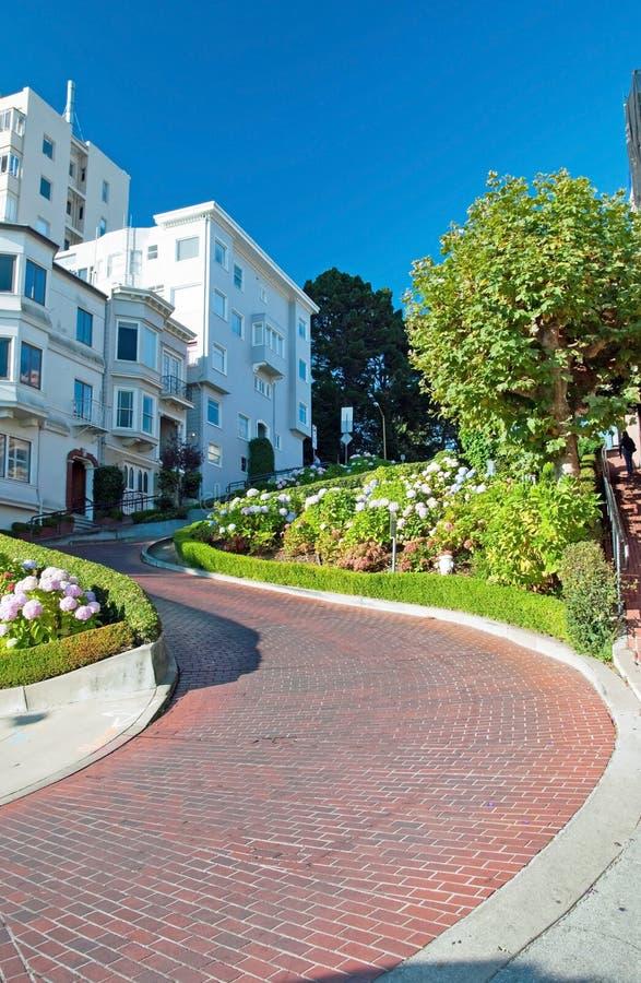 Calle del lombardo en San Francisco fotografía de archivo