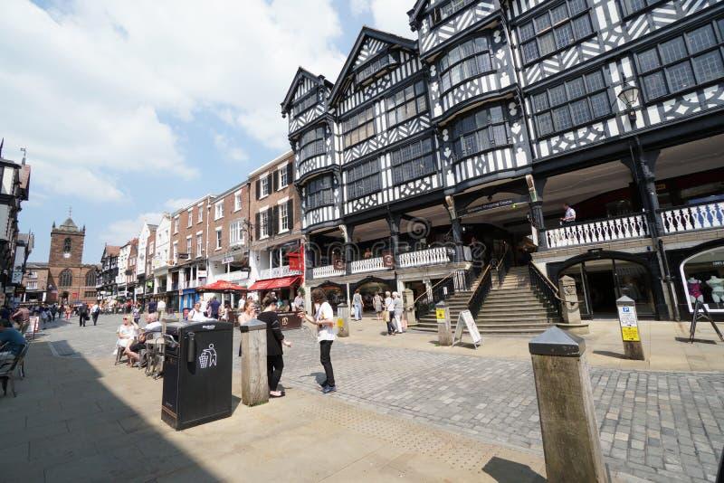 Calle del puente, Chester fotografía de archivo libre de regalías