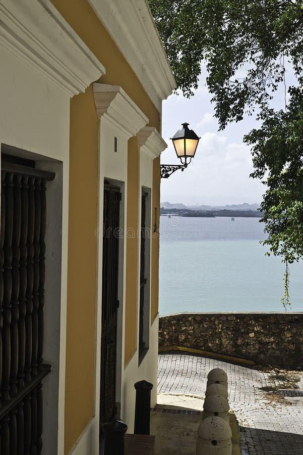 Calle del solenoide, San Juan viejo, Puerto Rico fotos de archivo