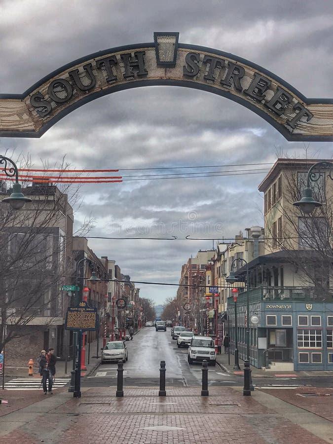 Calle del sur Philadelphia foto de archivo libre de regalías