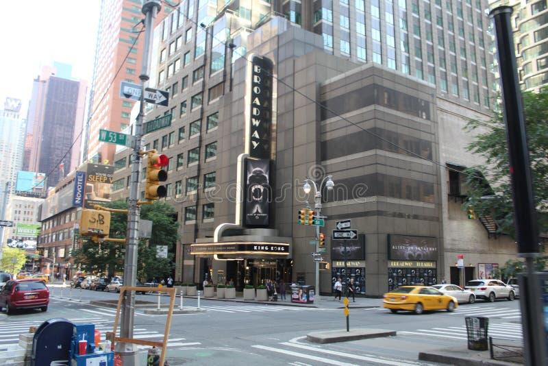 Calle del Times Square en Nueva York imágenes de archivo libres de regalías