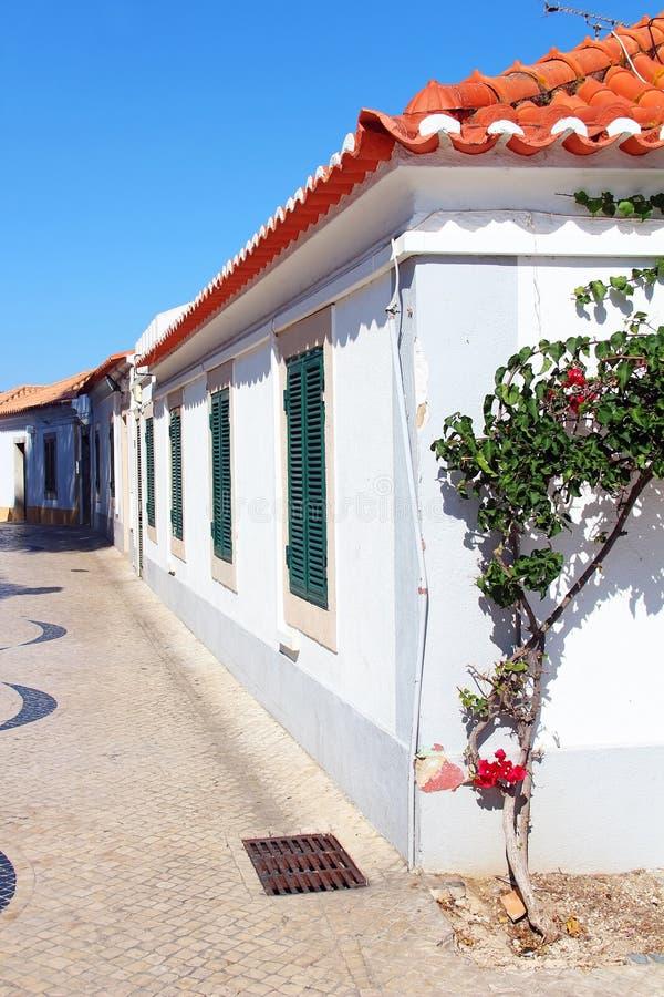 Calle en Cascais, Lisboa, Portugal foto de archivo libre de regalías