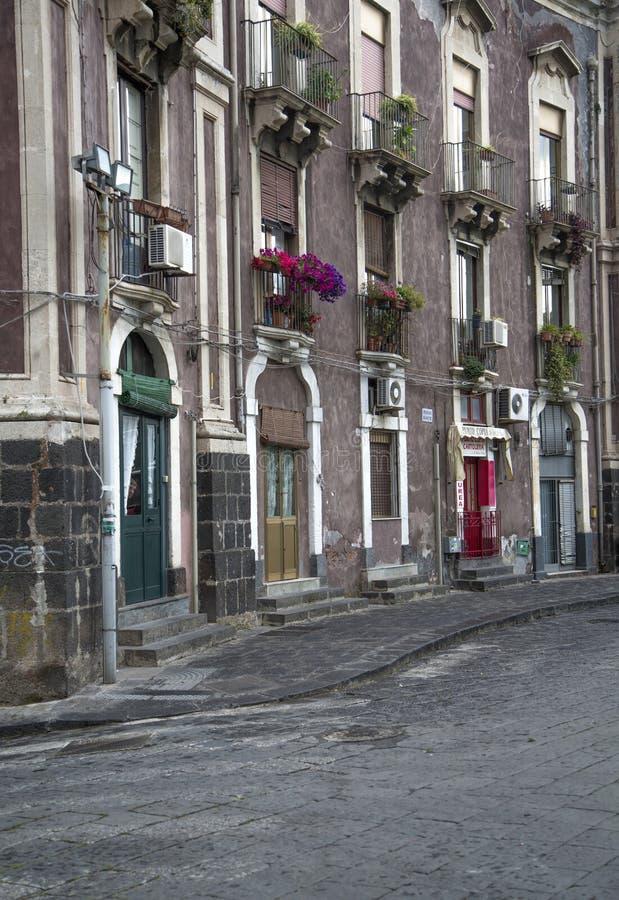 Calle en Catania, Italia imágenes de archivo libres de regalías