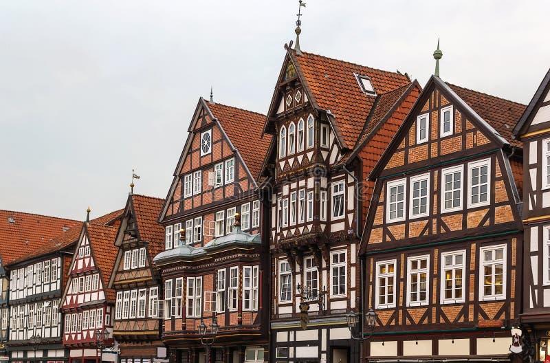Calle en Celle, Alemania imagenes de archivo
