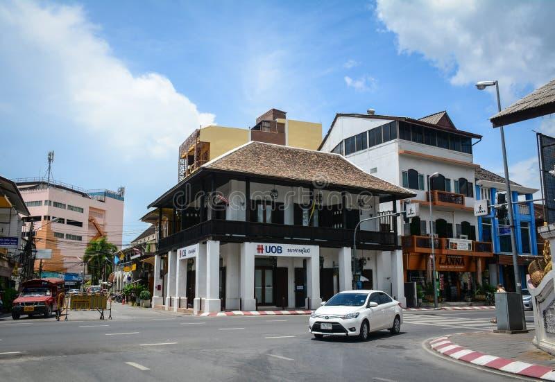 Calle en Chiang Mai, Tailandia imagen de archivo
