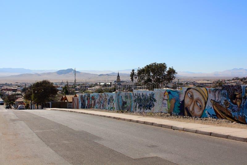 Calle en Chile fotografía de archivo