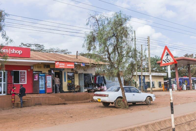 Calle en ciudad en África imágenes de archivo libres de regalías