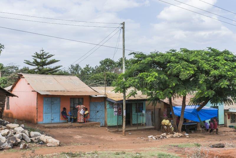 Calle en ciudad en África imagenes de archivo