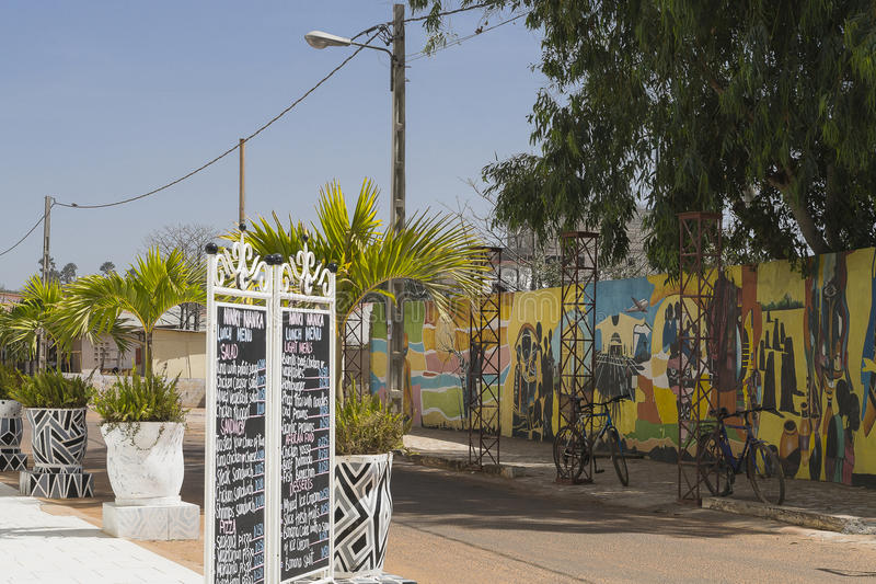 Calle en ciudad en África foto de archivo libre de regalías