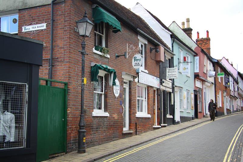 Calle en Colchester fotos de archivo