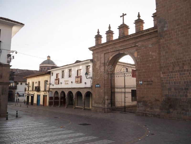 Calle en Cusco, Perú imagenes de archivo