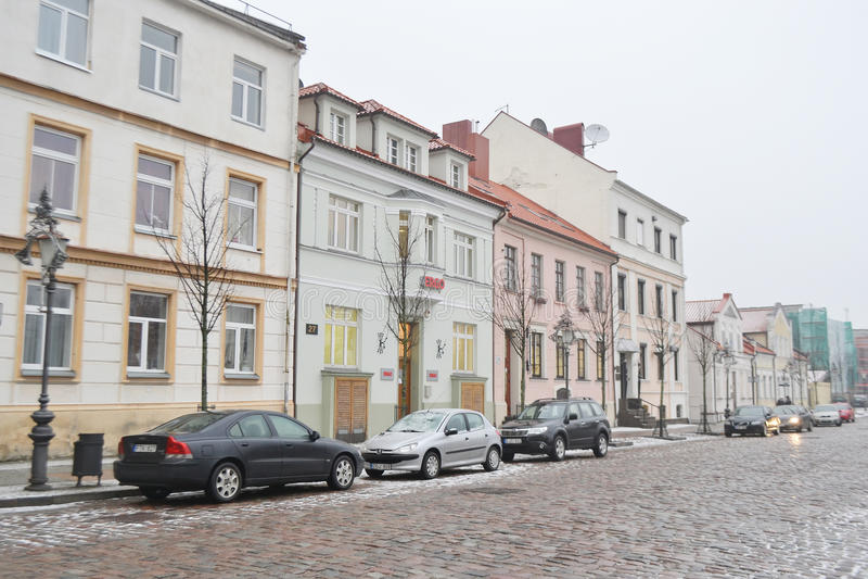 Calle en el centro de Klaipeda fotos de archivo libres de regalías