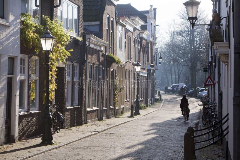 Calle en Gouda fotografía de archivo libre de regalías