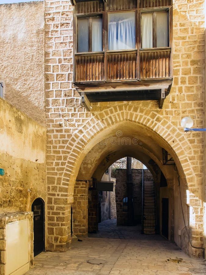 Calle en Jaffa viejo foto de archivo