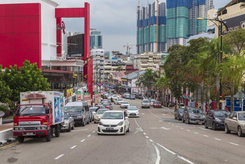 Calle en Johor Bahru Malasia fotos de archivo