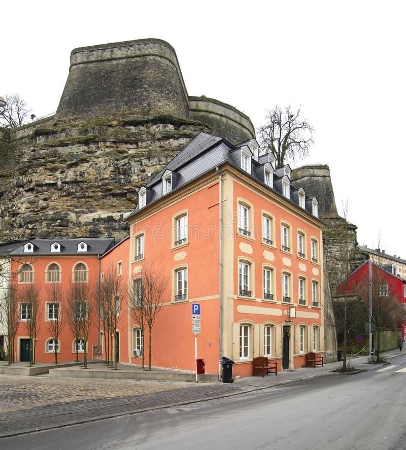 Calle en la ciudad de Luxemburgo luxemburgo fotografía de archivo libre de regalías