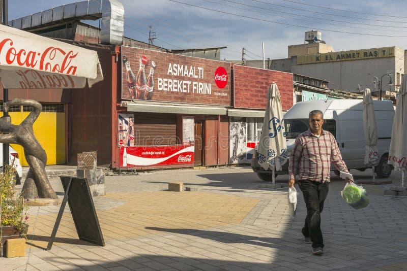 Calle en la ciudad de Nicosia fotografía de archivo libre de regalías