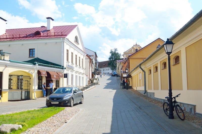 Calle en la ciudad superior, Minsk fotografía de archivo