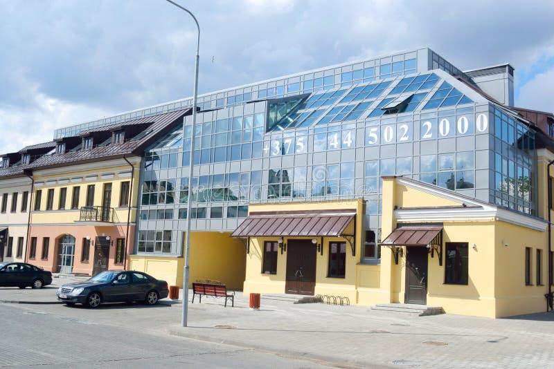 Calle en la ciudad superior, Minsk imagenes de archivo