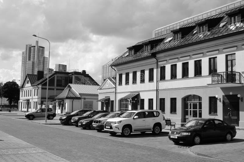 Calle en la ciudad superior, Minsk imágenes de archivo libres de regalías