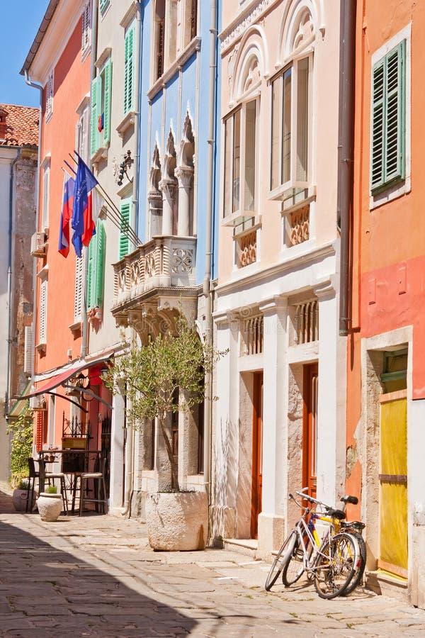 Calle en Piran fotografía de archivo libre de regalías