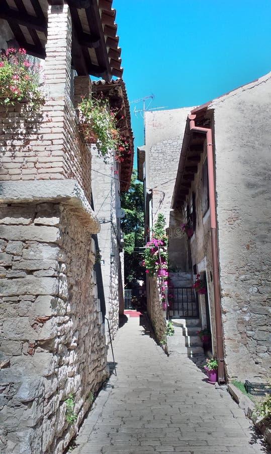 Calle en Porec fotografía de archivo libre de regalías