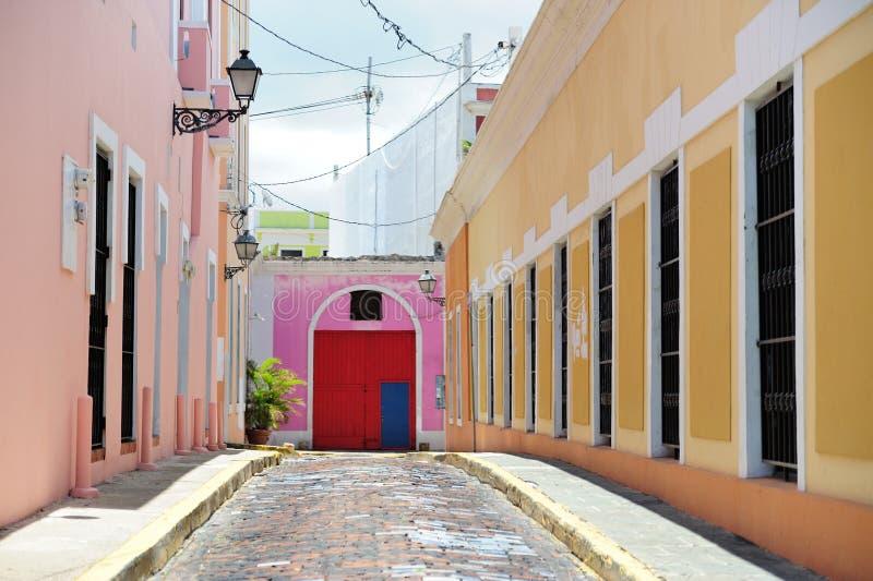 Calle en Puerto Rico imagenes de archivo