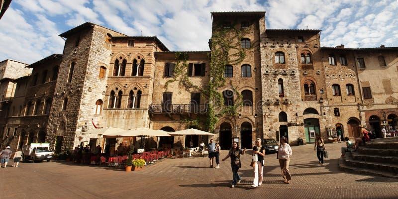 Calle en San Gimignano fotografía de archivo libre de regalías