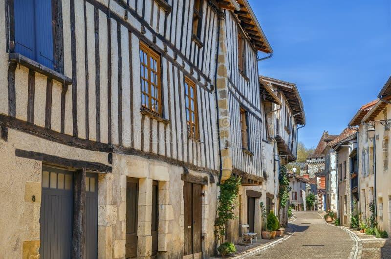 Calle en Santo-Jean-de-Cole, Francia imágenes de archivo libres de regalías