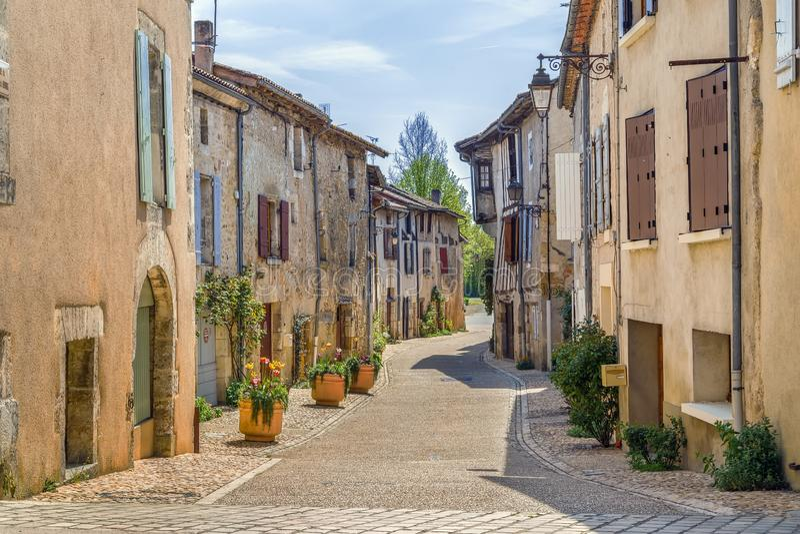 Calle en Santo-Jean-de-Cole, Francia fotografía de archivo