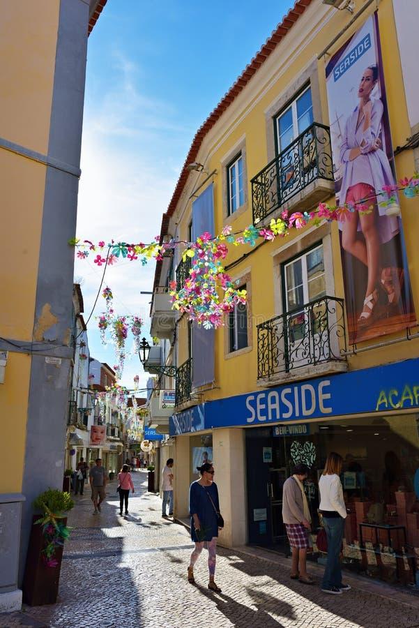 Calle en Setúbal, Portugal fotos de archivo