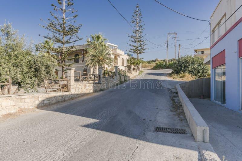 Calle en Sfakaki fotos de archivo libres de regalías