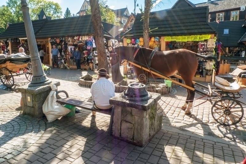 Calle en Zakopane imagen de archivo libre de regalías