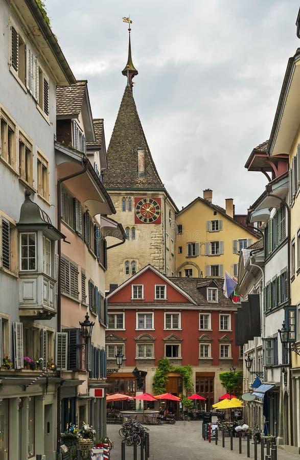 Calle en Zurich imágenes de archivo libres de regalías