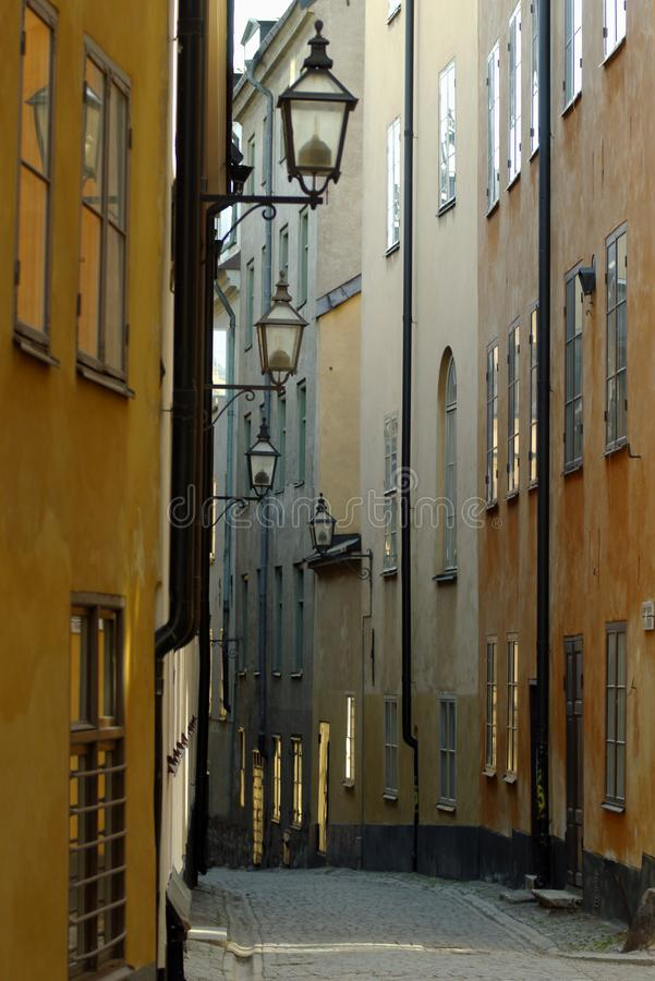 Calle estrecha foto de archivo