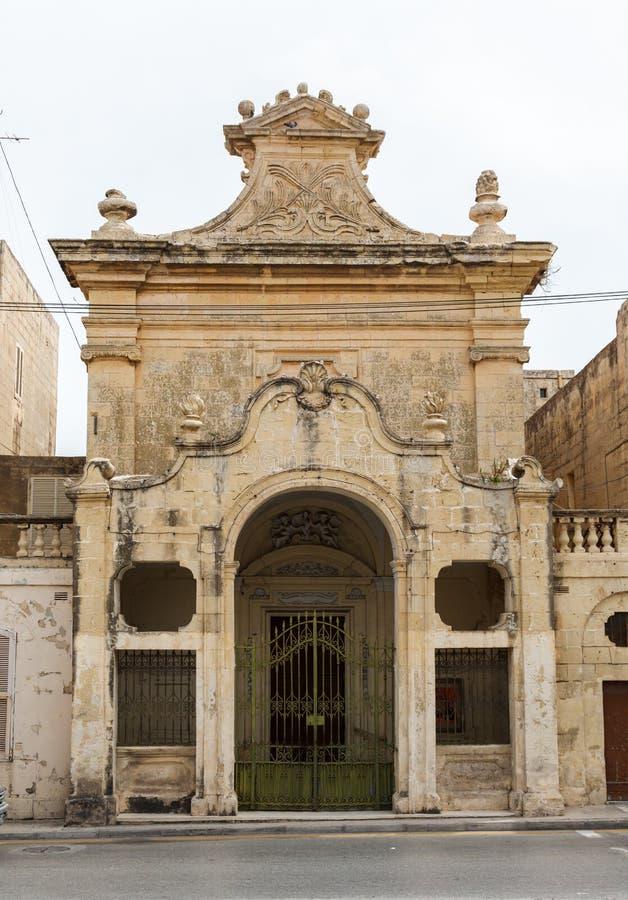 Calle estrecha maltesa Mdina, Malta imagenes de archivo
