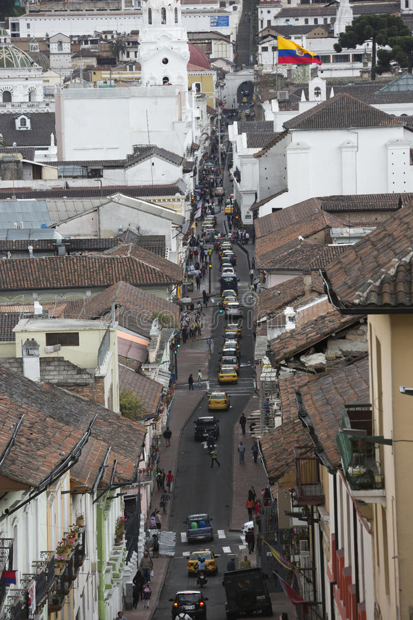 Calle Gabriel Garcia Moreno fotografía de archivo libre de regalías